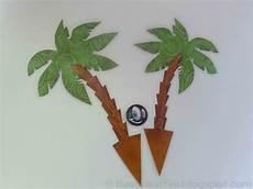 palme selber basteln bastelkaffee tortendeko palmen