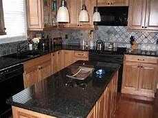 Kitchen Backsplash Black Countertop by Black Granite Countertops Black Pearl Is Granite