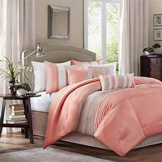 bedding comforter king size 7 piece soft luxury sheets polyester coral new ebay