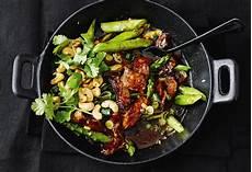 Asiatische Rindfleisch Spargel Pfanne Frisch Gekocht