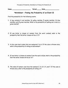 probability worksheets algebra 2 5695 find the probability of scoring more than 8 when two dice are rolled probability worksheets