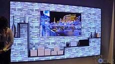 Tv Wand Kaufen - samsung s quot the wall quot tv their new 8k upscaling tv