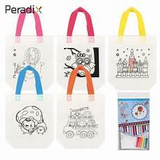 Reusable Pocket Drawing Environmental Protection Students by Cloth Diy Kid Pattern Bag Recycle Bag Multicolor Draw Bag