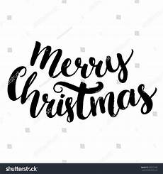 merry christmas text brush calligraphy type stock vector 329721260