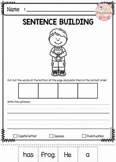 writing sentences worksheets 1st grade 22093 march sentence building costruzione frasi e inglese