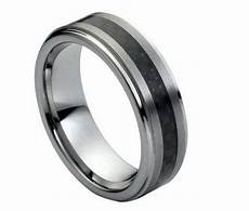 tungsten carbide men s wedding band ring 7mm with carbon fiber inlay comfort fit ebay