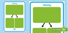 ks1 fractions halving mat