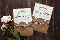 Rustic Wedding Invitations With Photo