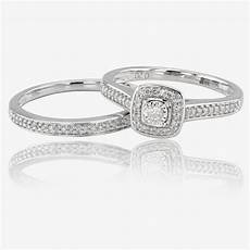 9ct white gold diamond cluster bridal