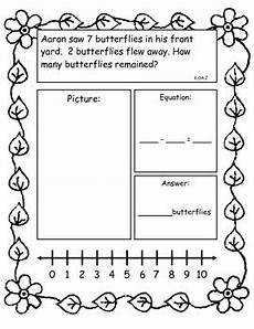 subtraction stories worksheets for kindergarten 10536 addition and subtraction story problems kindergarten version