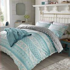 christmas nordic duvet cover thermal 100 brushed cotton bedding ebay