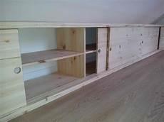 rangement en sous pente placard en sous pente realisations xl meubles en bois