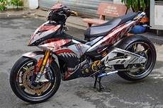 Modifikasi Mx King by Modifikasi Cadaz Yamaha Mx King Pakai Kaki Moge Headl