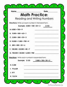 reading and writing numbers worksheets grade 4 21093 17 best images about place value on expanded form to play and place values