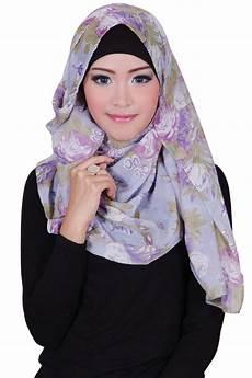 Model Jilbab Modern Pashmina Aliya Mix Grey Baju Atasan