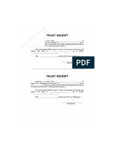 sle trust receipt invoice banks