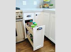 Kitchen: Sliding Spice Rack For Nice Kitchen Cabinet