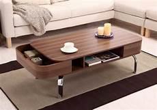 Moderne Design Couchtisch Holz Mit Chrom Metallf 252 223 E
