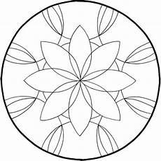Ausmalbilder Einfache Mandalas Mandalas Zum Ausdrucken Tolle Blumen Mandala Vorlage Zum