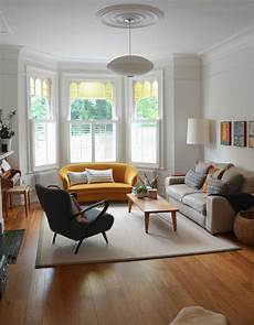 Ideas For Living Room With Bay Window by Living Room Yellow Sofa Bay Window Edwardian