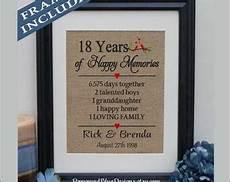 Wedding Anniversary Gifts 18 Years