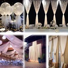 white 54 quot x120 ft 40 yards tulle bolt wedding decoration