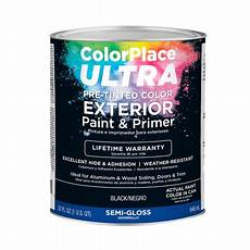 colorplace ultra gloss exterior black paint and primer 1 qt walmart com