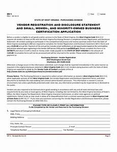 vendor registration and disclosure statement and small and minority owned business