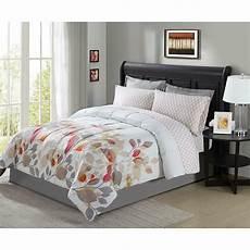 8 pieces complete bedding set comforter floral flowers