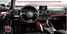 how do i pair bluetooth devices with my audi a3 tt or r8