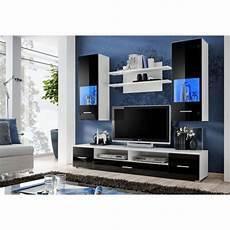 Decoration Meuble Tv Design Mural Peker Noir Et