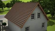 3d animation einer dacheindeckung mit sandwichpaneele und