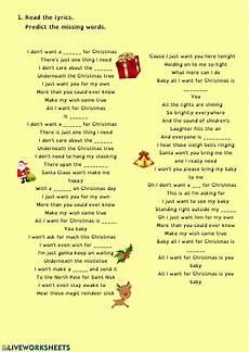 song worksheet interactive worksheet