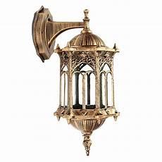 bronze antique exterior wall light fixture aluminum glass lantern garden outdoor 191156172366 ebay