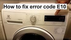 How To Fix Electrolux Aeg Error Code E10