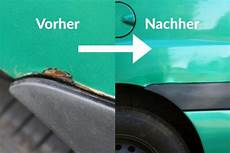 kleine roststellen am auto selbst ausbessern