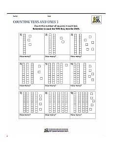 math place value worksheets 2 digit numbers grade math worksheets 1st grade math