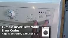 aeg lavamat resetten how to enter diagnostic test mode on tumble dryers aeg