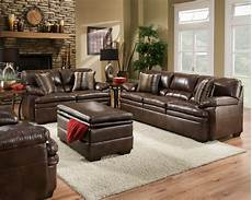 Living Room With Leather Furniture