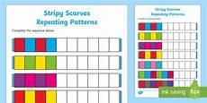patterns eyfs worksheets 78 stripy scarves repeating patterns worksheet worksheet eyfs early years