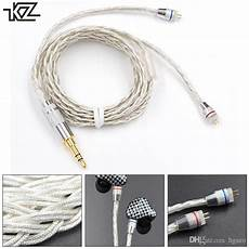 75mm Insert Needle Braided Headphone Cable by Kz Braided Silver Plated Headset Wire With 0 75mm Standard