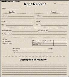 annual rent receipt free word templates