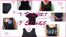 diy fashion 1 t shirt 7 styles mode tipps crop top