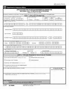 form 22 1990n application for va education benefits under the national call to service ncs