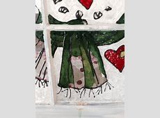 Hometalk   Snowman painted in stain glass paint on old window