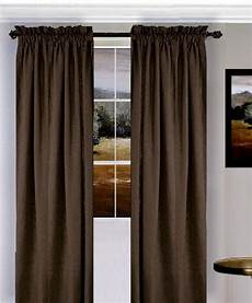 Brown Curtains by Solid Brown Colored Window Curtain Available In Many