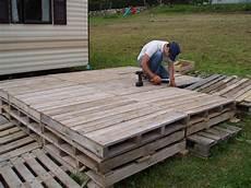 construire une terrasse en palette mob au pays du reblochon inauguration de la terrasse