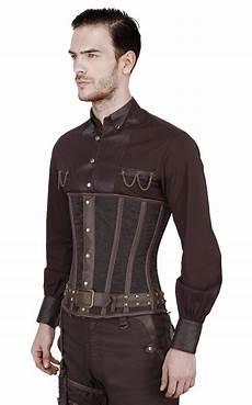 corset serre taille homme marron steunk 233 l 233 gant brocart