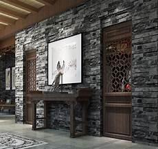 papier peint mur en rustique faux brique papier peint en vinyle noir gris