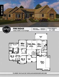 fire ridge 1 story craftsman house plan craftsman style